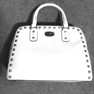 NWT Michael Kors Sandrine Stud White bag.